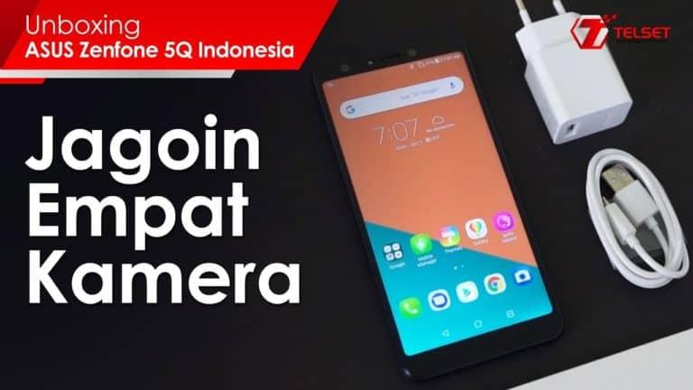 UNBOXING ASUS ZENFONE 5Q Indonesia: Jagoin Empat Kamera