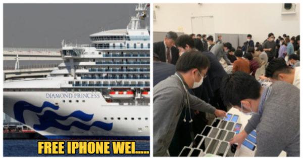 """Jepang Bagikan 2000 iPhone ke Penumpang Kapal """"Virus Corona"""""""