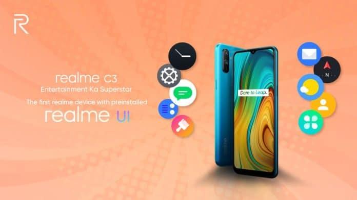 Realme C3 Realmi UI