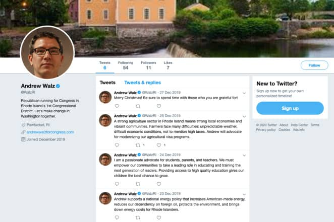 Akun Twitter centang biru