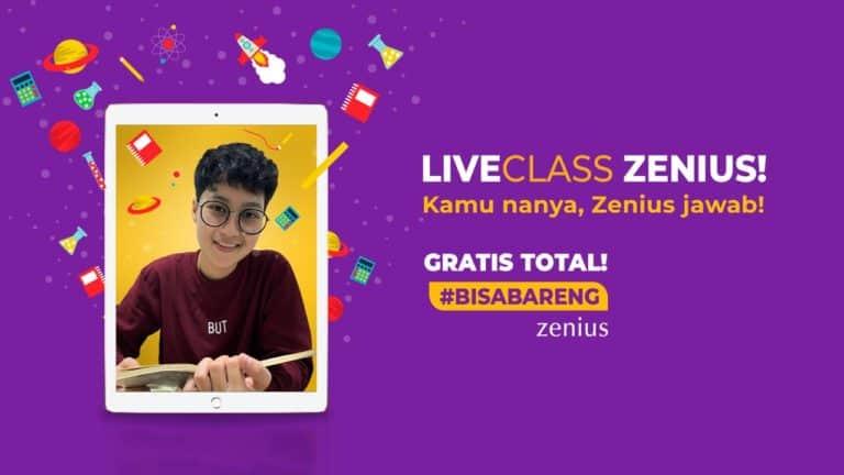 """Dukung Siswa Belajar di Rumah, Zenius Mulai Layanan """"Live Teaching"""""""