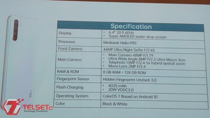 Spesifikasi Oppo Reno3 Indonesia