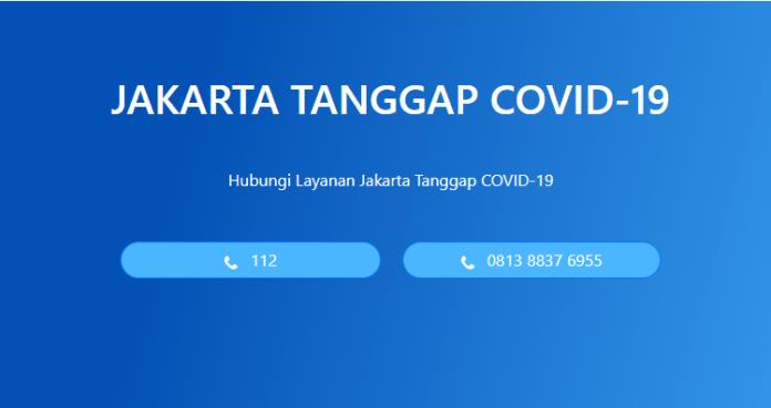 situs pantau corona Jakarta