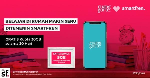 Smartfren Ruangguru 30 GB