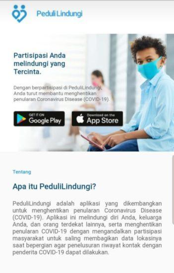Menkominfo Aplikasi TraceTogether PeduliLindungi