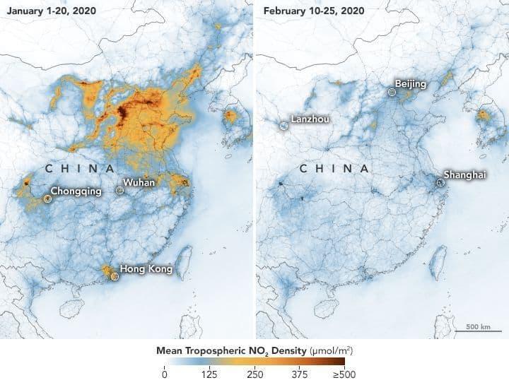Polusi Udara China Virus Corona