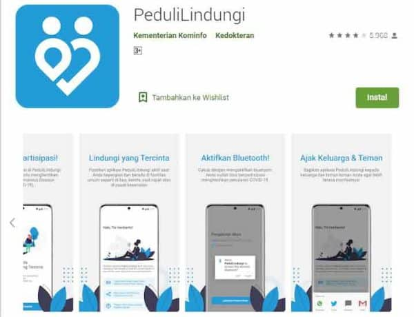 Bukan Blutooth, Aplikasi Peduli Lindungi Mending Pakai GPS