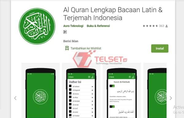 Al Quran Lengkap Bacaan Latin & Terjemah Indonesia