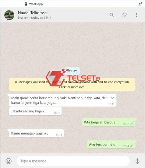 Permainan di WhatsApp