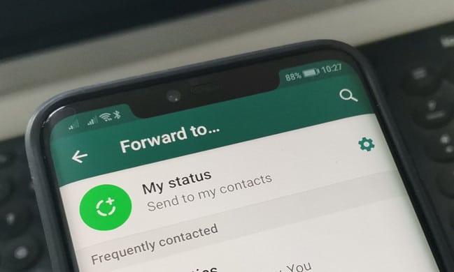 Forward message WhatsApp