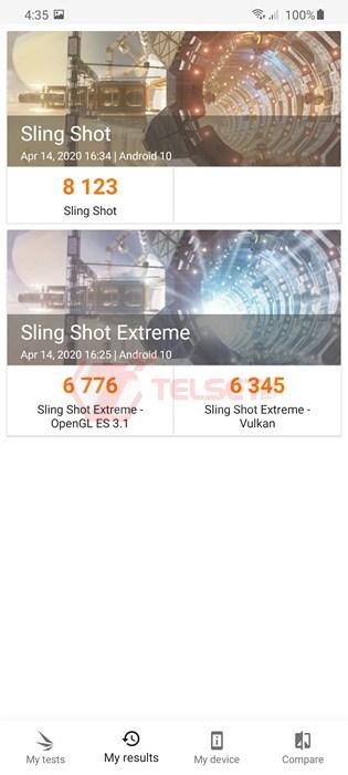 3DMark Sling Shot Galaxy S20 Ultra