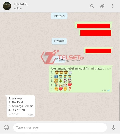 Permainan WhatsApp