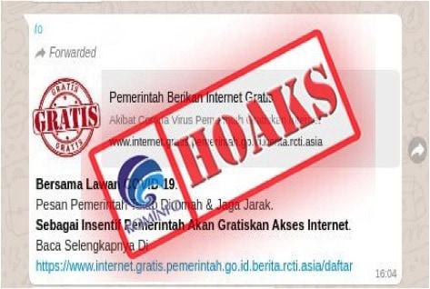 """Hoaks!! Link """"Pemerintah Kasih Internet Gratis"""", Jangan Diklik!"""