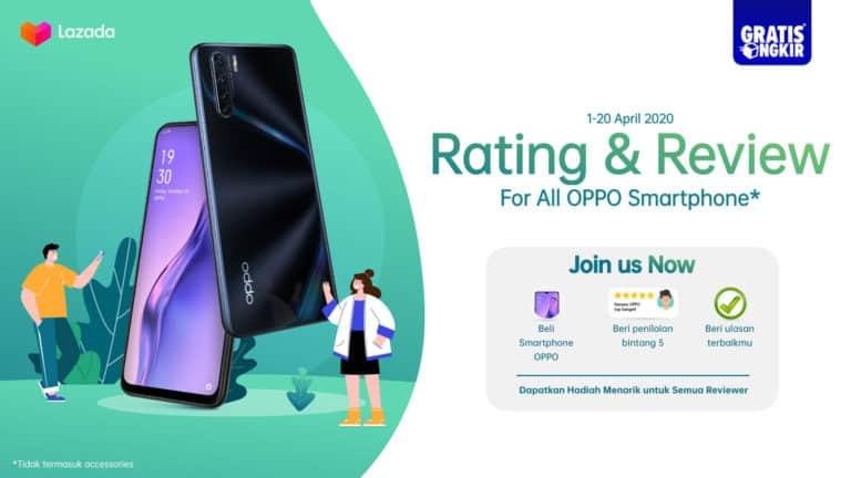 Beli Smartphone Oppo di Lazada Dapat Gratis Ongkir, Tertarik?