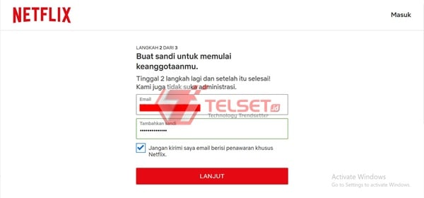 cara daftar netflix tanpa kartu kredit