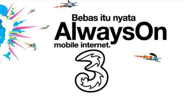 paket alwayson dari provider internet three