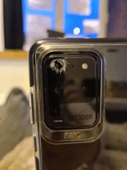 Samsung Galaxy S20 Ultra Pecah