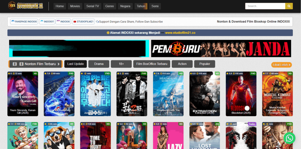 streaming film gratis Studio Film 21