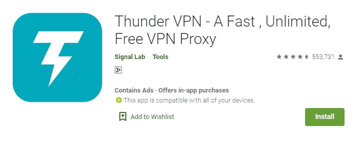 thunder vpn terbaik gratis
