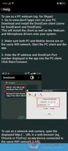 Kamera Ponsel jadi WebCam