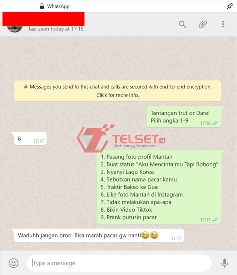 Permainan WhatsApp Truth or Dare