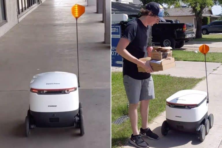Lagi Social Distancing, Restoran Ini Antar Pizza Pakai Robot