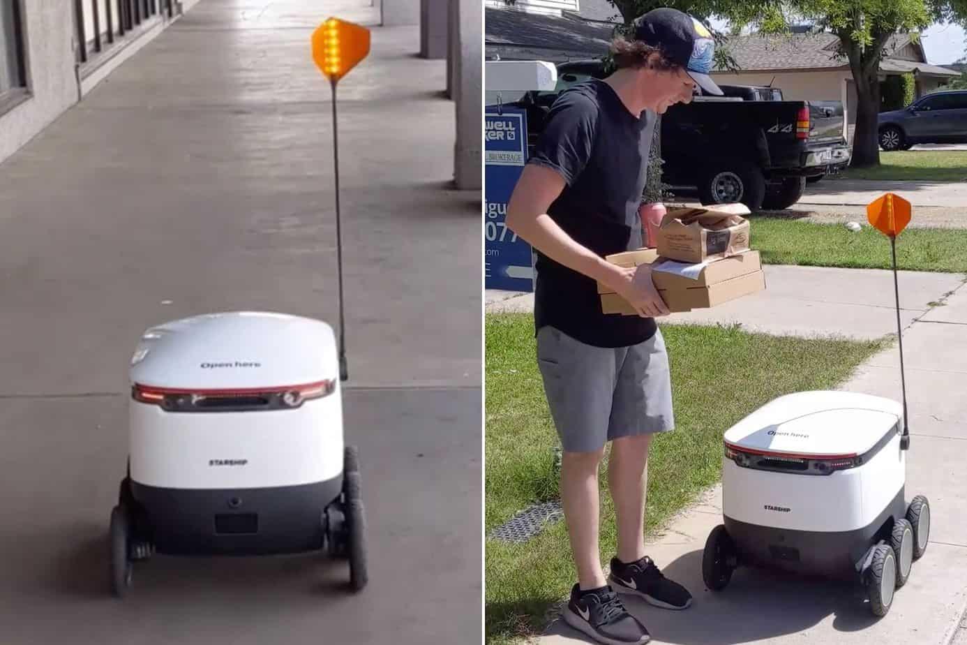 antar pizza pakai robot