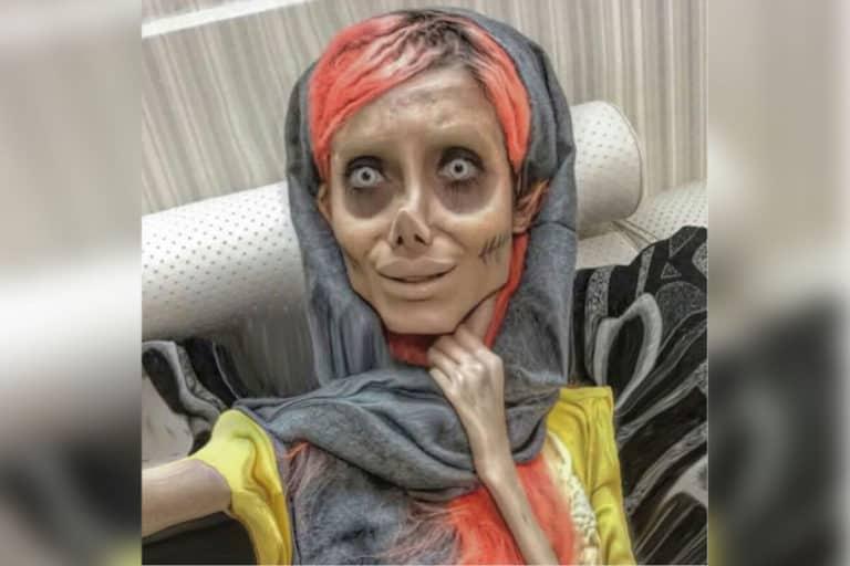 "Selebgram ""Zombie Angelina Jolie"" Terinfeksi Corona di Penjara"