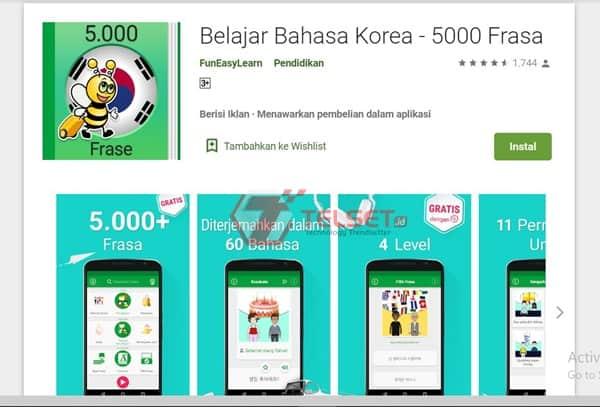 aplikasi Belajar Bahasa Korea - 5000 Frasa
