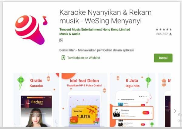 Aplikasi Karaoke Android WeSing Menyanyi