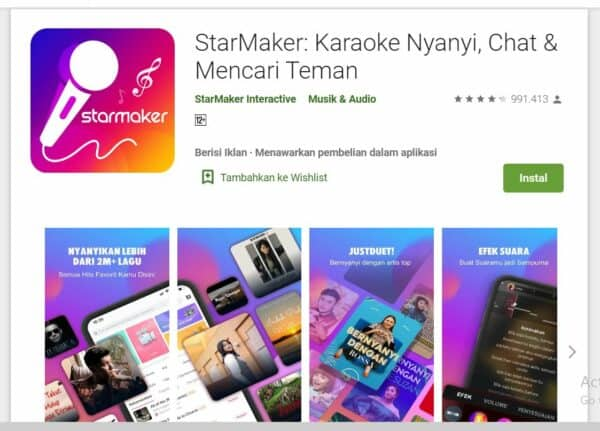Aplikasi Karaoke Android StarMaker