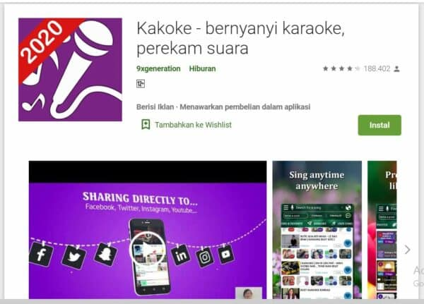 Aplikasi Karaoke di Android Kakoke