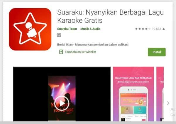 Aplikasi Karaoke di Android suaraku