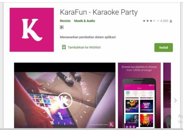 Aplikasi Karaoke karafun