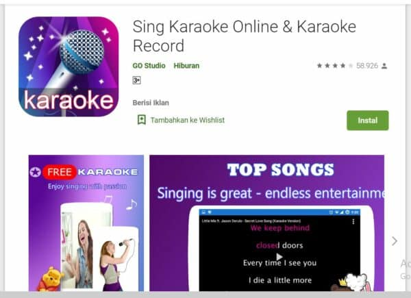 Aplikasi Karaoke sing karaike online