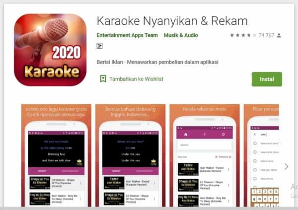 Aplikasi Karaoke Android karaoke nyanyikan