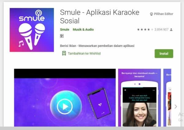 Aplikasi Karaoke Android smule