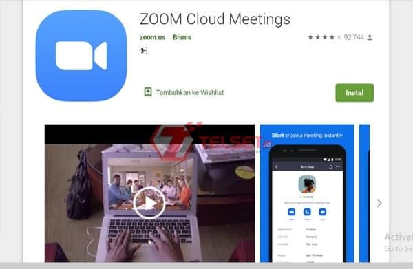 Video Call dan meeting onlinde dengan zoom