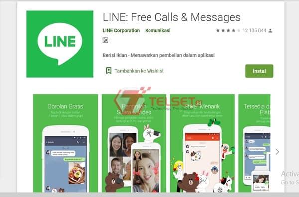 video call dengan line