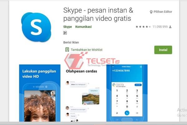 skype Aplikasi Video Call