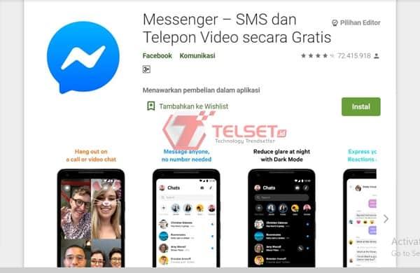 video call dengan Messenger facebook