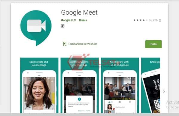 meeting video call dengan google meet