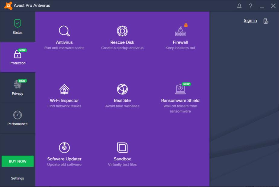 Antivirus ringan untuk PC Avast Antivirus Pro