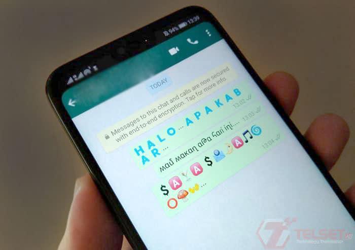 Cara Ganti Font dan Membuat Tulisan Berwarna di WhatsApp