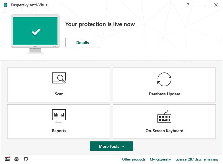 Antivirus Ringan untuk PC Kaspersky Antivirus