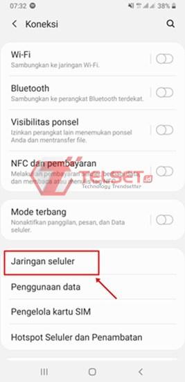 Sinyal Internet di Smartphone