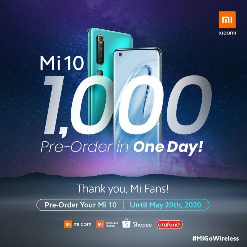 Pre order Mi 10