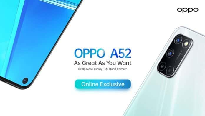 Oppo A52 spesifikasi