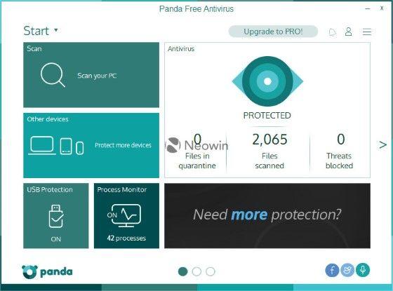 Panda Antivirus Pro paling ringan