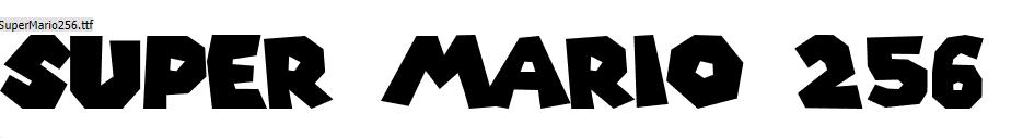 Super Mario Font Keren